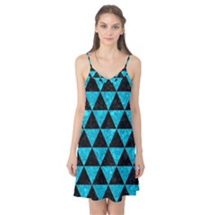 Triangle3 Black Marble & Turquoise Marble Camis Nightgown