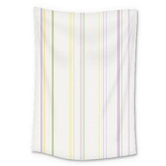 Line Yellow Purple Green Large Tapestry