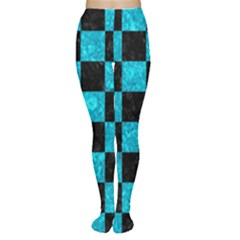 Square1 Black Marble & Turquoise Marble Tights