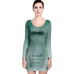 Background Texture Structure Long Sleeve Bodycon Dress