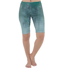 Background Texture Structure Cropped Leggings