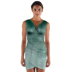 Background Texture Structure Wrap Front Bodycon Dress
