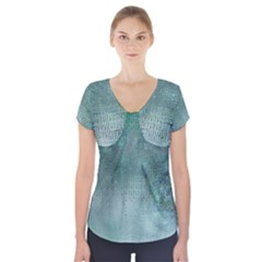 Background Texture Structure Short Sleeve Front Detail Top