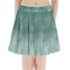 Background Texture Structure Pleated Mini Skirt