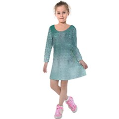 Background Texture Structure Kids  Long Sleeve Velvet Dress