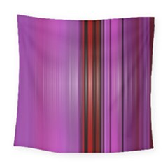Purple Line Rainbow Square Tapestry (large)