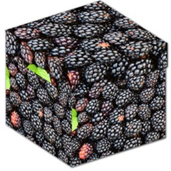 Blackberries Background Black Dark Storage Stool 12