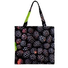 Blackberries Background Black Dark Grocery Tote Bag