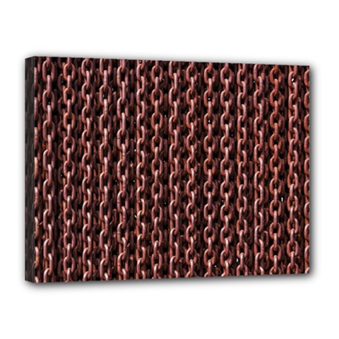 Chain Rusty Links Iron Metal Rust Canvas 16  X 12