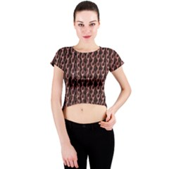 Chain Rusty Links Iron Metal Rust Crew Neck Crop Top