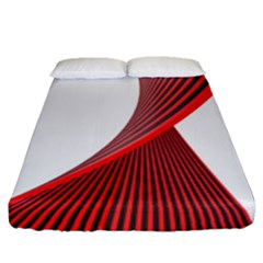 Red Black White Fitted Sheet (queen Size)