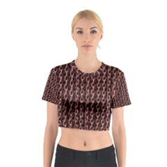 Chain Rusty Links Iron Metal Rust Cotton Crop Top