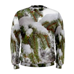 Brad Snow Winter White Green Men s Sweatshirt