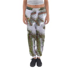 Brad Snow Winter White Green Women s Jogger Sweatpants