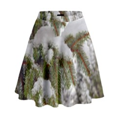 Brad Snow Winter White Green High Waist Skirt