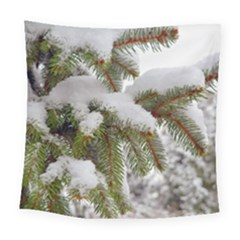 Brad Snow Winter White Green Square Tapestry (large)