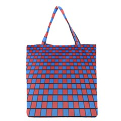 Red Blue Grocery Tote Bag