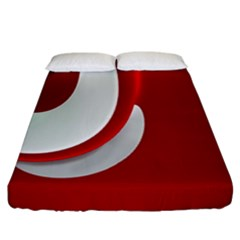 Red White Fitted Sheet (california King Size)