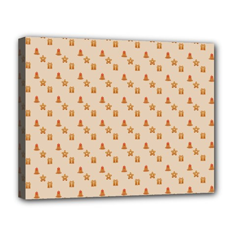Christmas Wrapping Paper Canvas 14  X 11