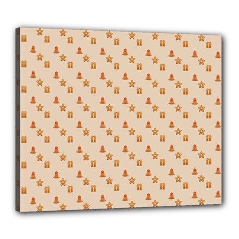 Christmas Wrapping Paper Canvas 24  X 20