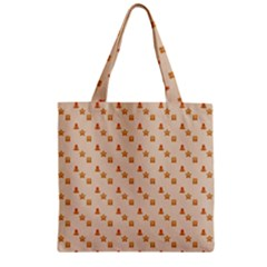 Christmas Wrapping Paper Zipper Grocery Tote Bag
