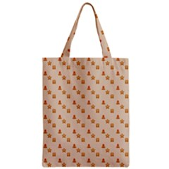 Christmas Wrapping Paper Zipper Classic Tote Bag