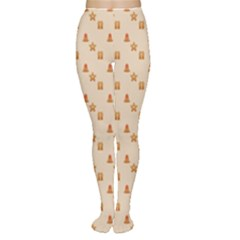 Christmas Wrapping Paper Women s Tights