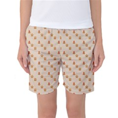 Christmas Wrapping Paper Women s Basketball Shorts