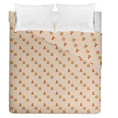 Christmas Wrapping Paper Duvet Cover Double Side (queen Size)