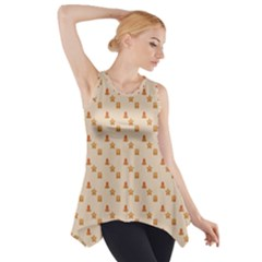 Christmas Wrapping Paper Side Drop Tank Tunic