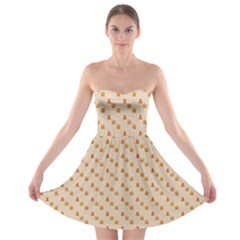 Christmas Wrapping Paper Strapless Bra Top Dress