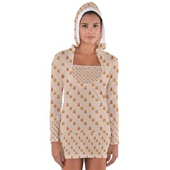 Christmas Wrapping Paper Women s Long Sleeve Hooded T Shirt