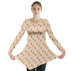 Christmas Wrapping Paper Long Sleeve Tunic