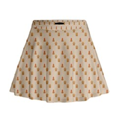 Christmas Wrapping Paper Mini Flare Skirt