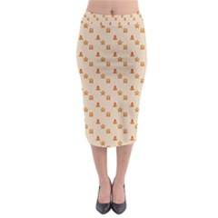 Christmas Wrapping Paper Midi Pencil Skirt