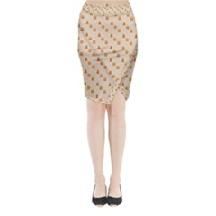 Christmas Wrapping Paper Midi Wrap Pencil Skirt