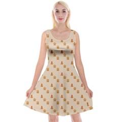 Christmas Wrapping Paper Reversible Velvet Sleeveless Dress