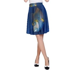 Fish Blue Animal Water Nature A Line Skirt
