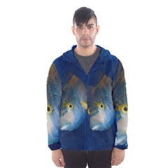 Fish Blue Animal Water Nature Hooded Wind Breaker (men)