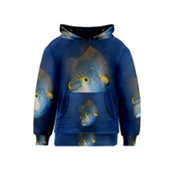 Fish Blue Animal Water Nature Kids  Pullover Hoodie