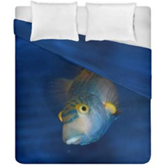 Fish Blue Animal Water Nature Duvet Cover Double Side (california King Size)