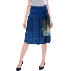 Fish Blue Animal Water Nature Midi Beach Skirt