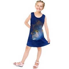 Fish Blue Animal Water Nature Kids  Tunic Dress