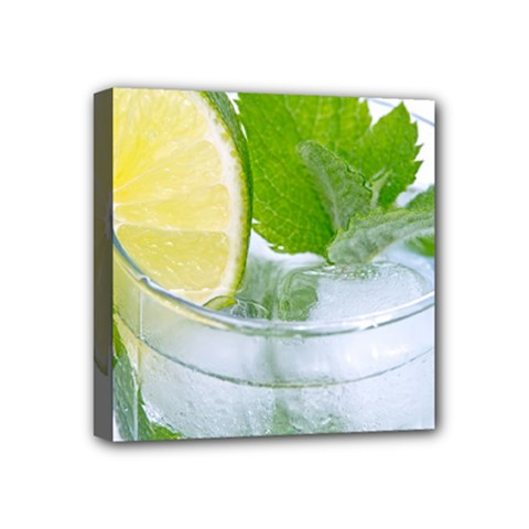 Cold Drink Lime Drink Cocktail Mini Canvas 4  X 4