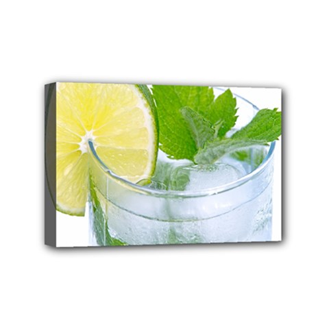 Cold Drink Lime Drink Cocktail Mini Canvas 6  X 4