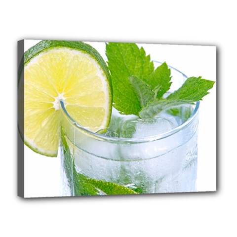 Cold Drink Lime Drink Cocktail Canvas 16  X 12