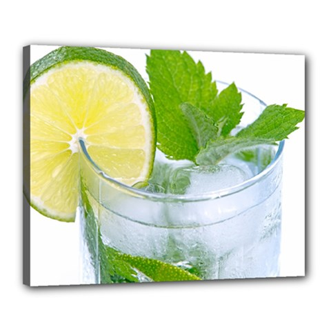 Cold Drink Lime Drink Cocktail Canvas 20  X 16