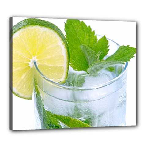 Cold Drink Lime Drink Cocktail Canvas 24  X 20