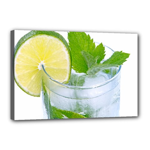Cold Drink Lime Drink Cocktail Canvas 18  X 12