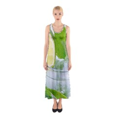 Cold Drink Lime Drink Cocktail Sleeveless Maxi Dress